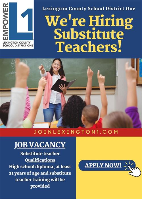 LexOne is hiring substitute teachers!
