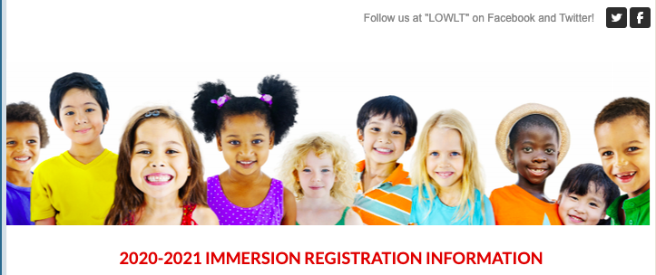 2020-2021 Immersion Registration Information