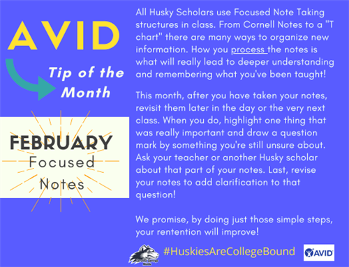 AVID Tip of the Month