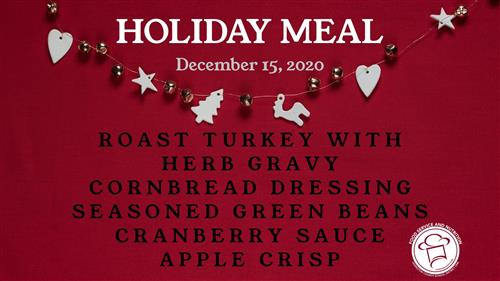 December Holiday Meal