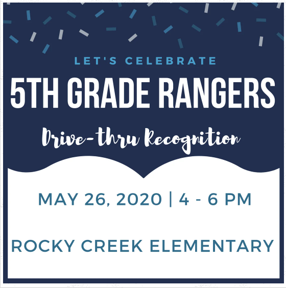 5th grade recognition drive thru