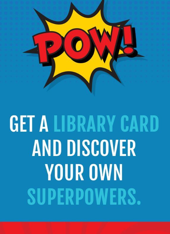 Get your public library card online.